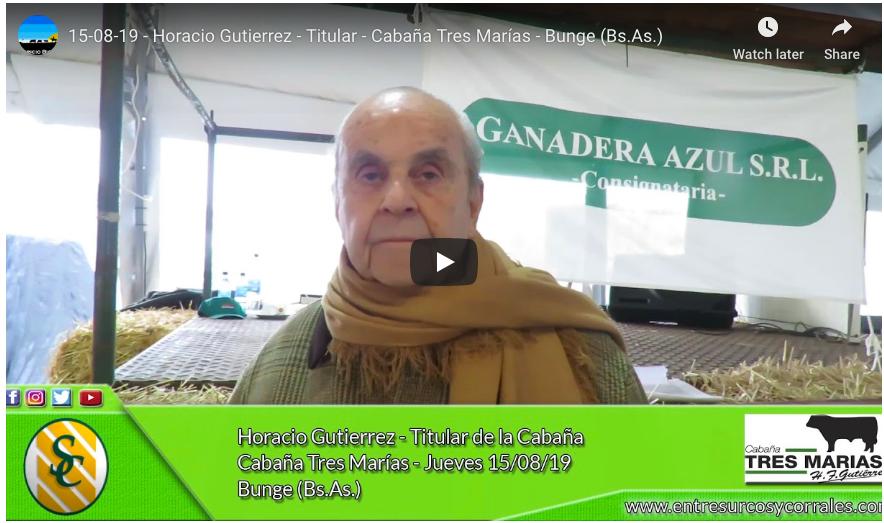 Nota a Horacio Gutiérrez por Entre Surcos y Corrales- Remate 2019
